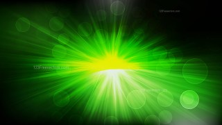 Abstract Cool Green Bokeh Defocused Lights with Sun Rays Background