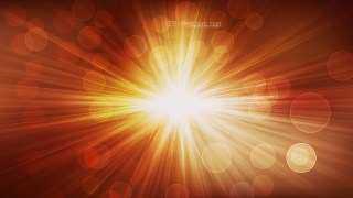 Dark Orange Bokeh Background with Rays Graphic