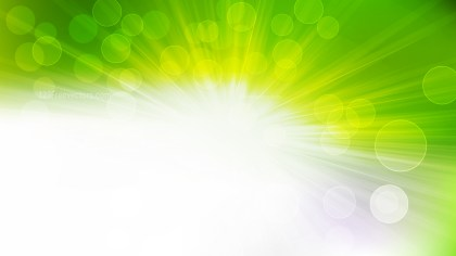 Abstract Green Yellow and White Light Rays Lights Bokeh Background