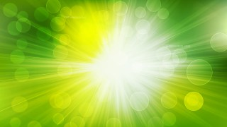 Abstract Green Yellow and White Bokeh Background with Sun Rays