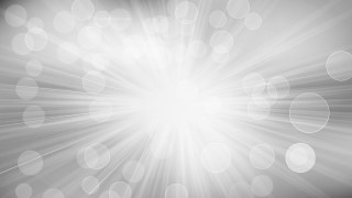Grey and White Bokeh Lights Background with Sun Rays