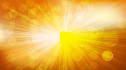 Abstract Orange Bokeh Lights Background with Light Rays Image