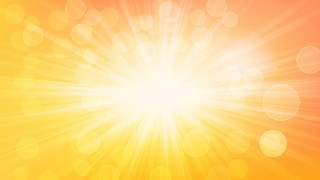 Abstract Orange and White Blurred Lights Background with Rays