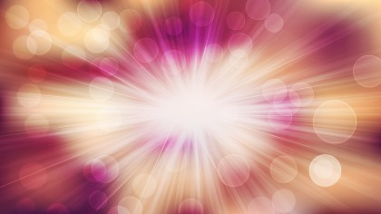 Pink and Beige Bokeh Background with Sun Rays Vector