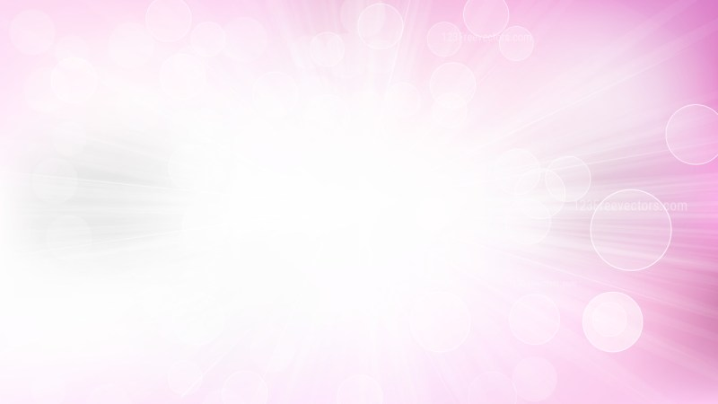 Abstract Pink and White Bokeh with Light Burst background Vector