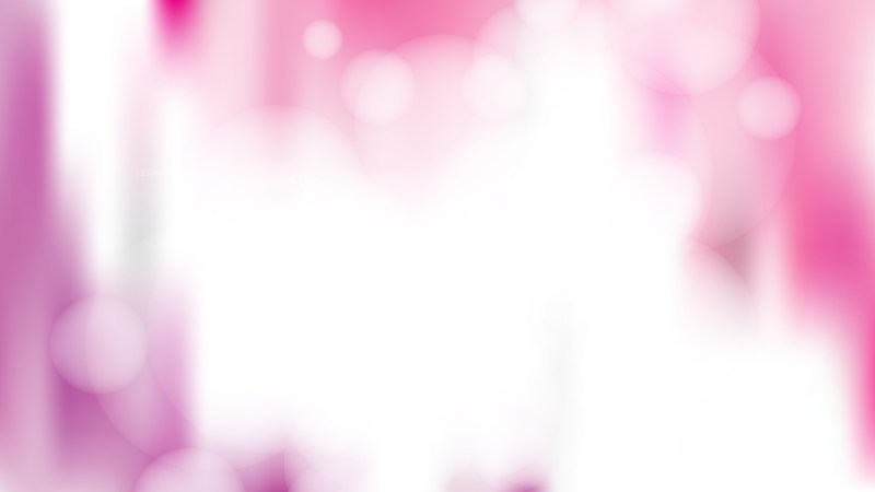 Pink and White Blur Bokeh Defocused Background Vector Illustration