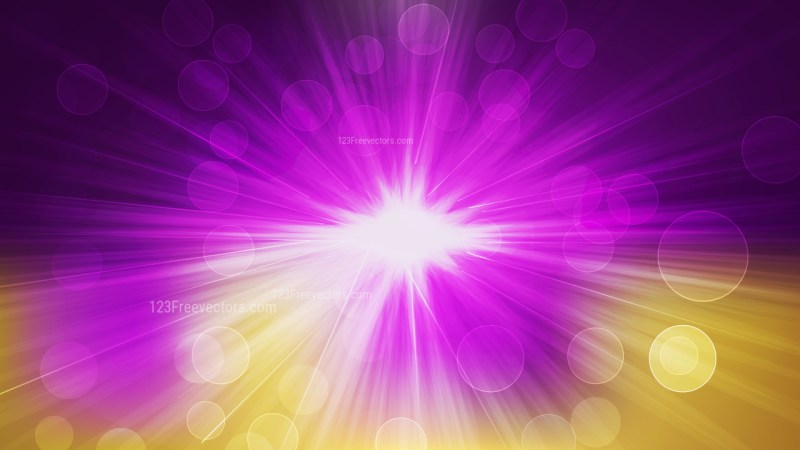 Purple and Gold Defocused Lights with Sun Rays Background