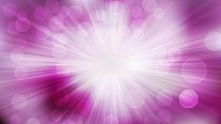 Abstract Purple and White Bokeh Background with Sun Rays Design