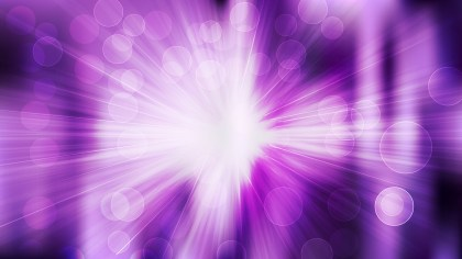 Abstract Purple Black and White Bokeh Background with Rays Vector Graphic
