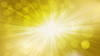 Abstract White and Gold Rays Lights Bokeh Background