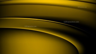 Black and Gold Abstract Wavy Background