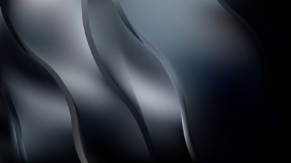 Abstract Black and Grey Wavy Background