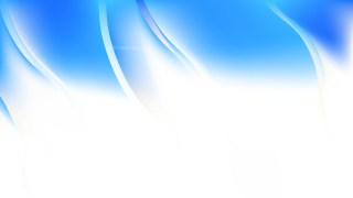 Blue and White Abstract Wavy Background Vector