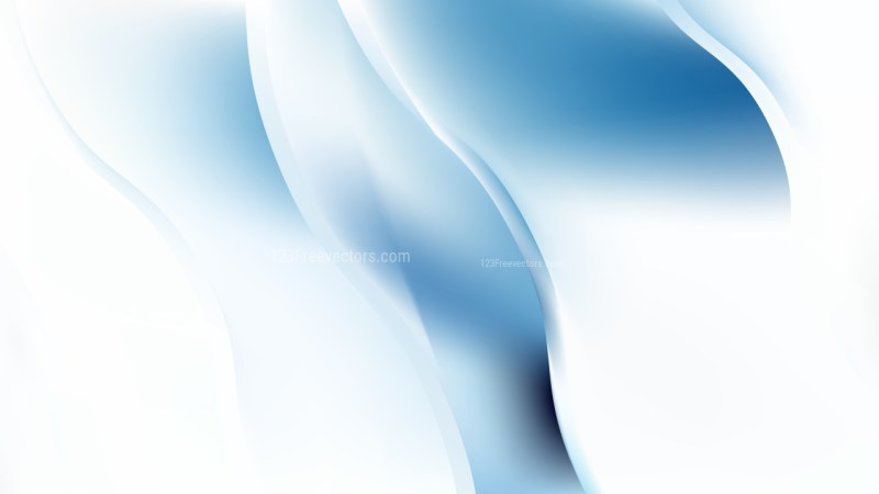 Abstract Blue and White Wavy Background