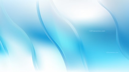 Blue and White Abstract Wavy Background