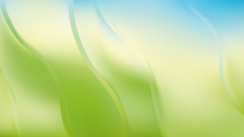 Abstract Blue Green and White Curve Background Vector Art
