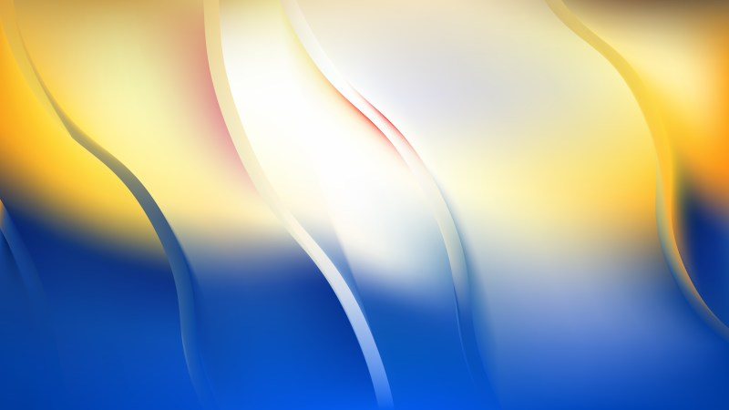 Blue Orange and White Abstract Curve Background
