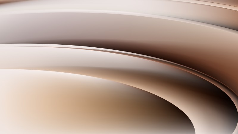 Abstract Brown Curve Background Vector Illustration