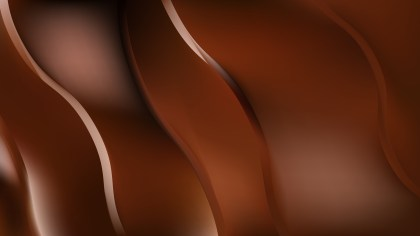 Dark Brown Abstract Wavy Background Design