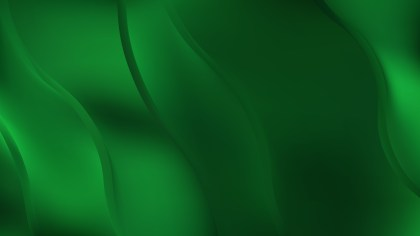 Abstract Dark Green Wavy Background Vector Graphic