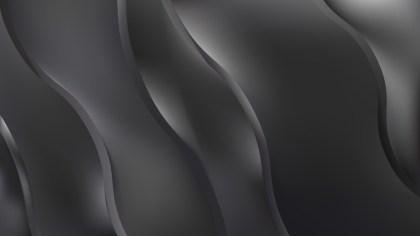 Dark Grey Wavy Background Vector Art