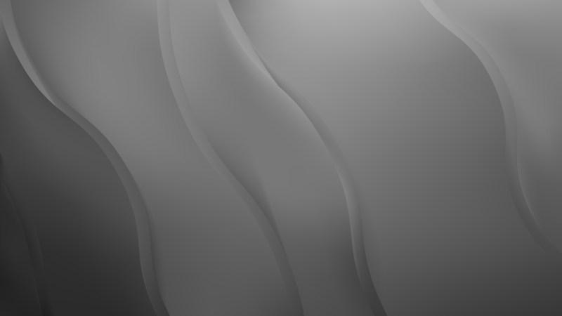 Dark Grey Abstract Wave Background
