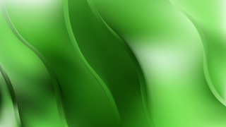 Green Abstract Wave Background Vector Illustration