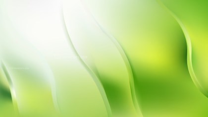 Green and White Abstract Wavy Background Vector
