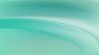 Abstract Mint Green Wavy Background