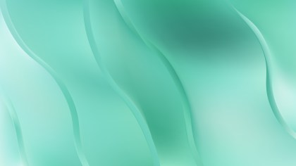 Mint Green Abstract Wavy Background Vector