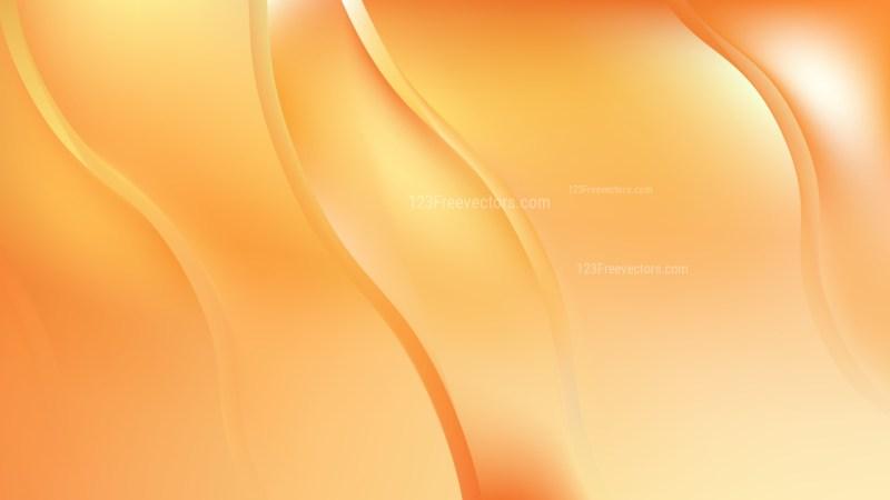 Orange Wave Background Vector Graphic