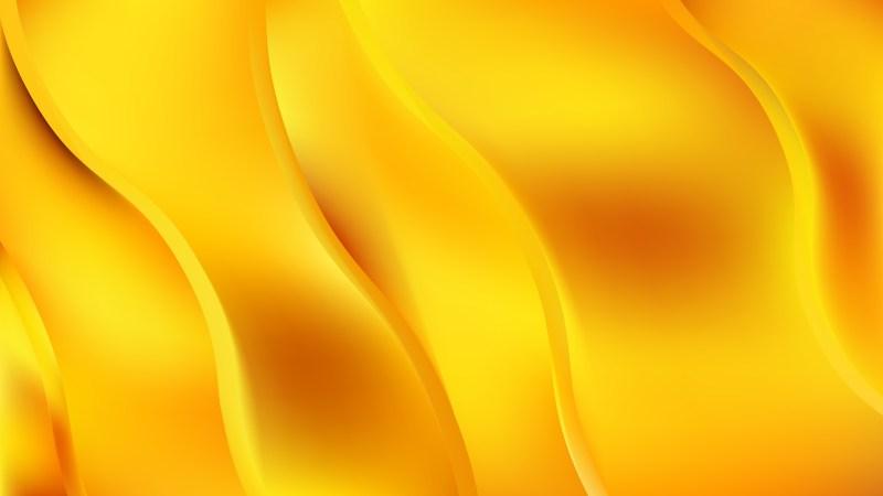 Orange and Yellow Wavy Background Vector Illustration
