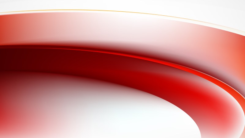 Red and White Wave Background Graphic