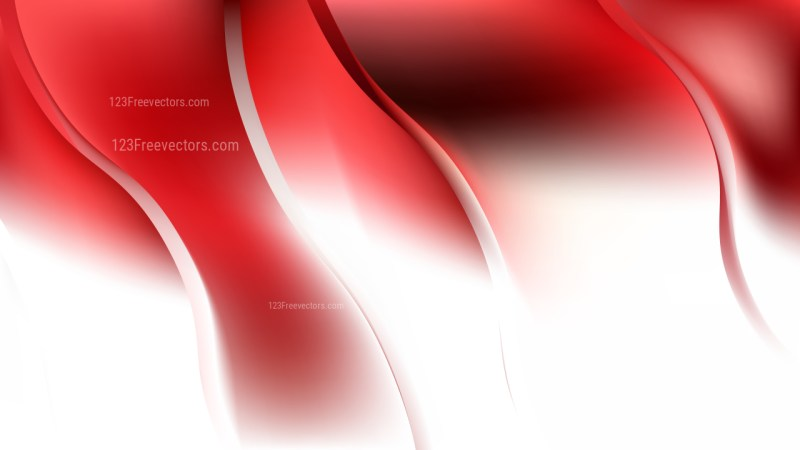 Red and White Abstract Curve Background Illustration