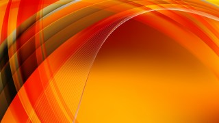 Abstract Black Red and Orange Curved Background