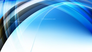 Blue Black and White Curved Background