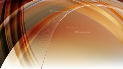 Abstract Brown and White Curved Lines Background Vector Image
