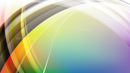 Colorful Curve Background Illustration