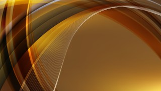 Abstract Dark Orange Waves Curved Lines Background