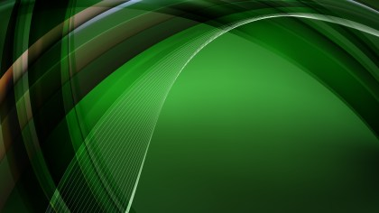 Abstract Green and Black Curve Background