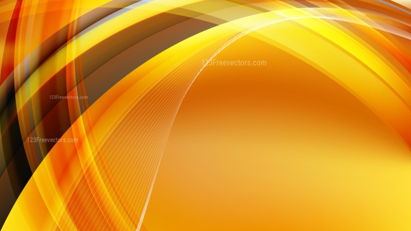 Abstract Orange Curved Lines Background Illustration