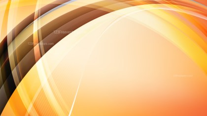 Abstract Orange Curved Background