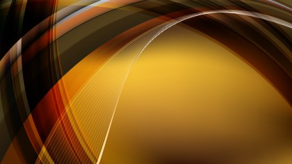 Abstract Orange and Black Curved Background