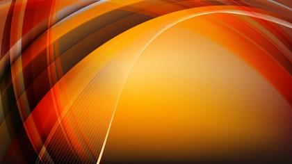 Orange and Black Waves Curved Lines Background Illustrator