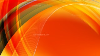 Orange and Green Curved Background Vector Graphic