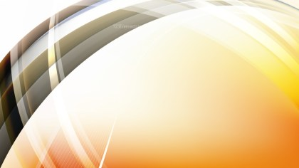 Abstract Orange Black and White Waves Curved Lines Background