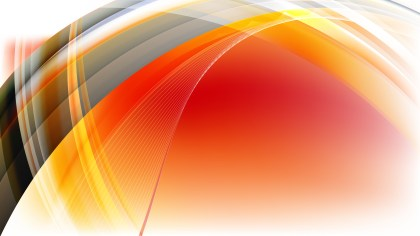 Orange Black and White Curved Lines Background Vector Image