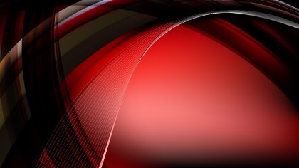 Abstract Red and Black Curved Background