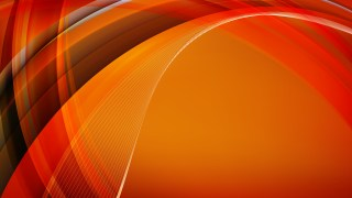 Red and Orange Waves Curved Lines Background