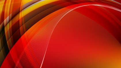Abstract Red and Orange Curved Lines Background Vector Art